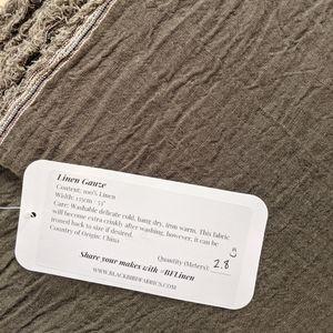 Linen Gauze Fabric, Olive, 2.8 meters